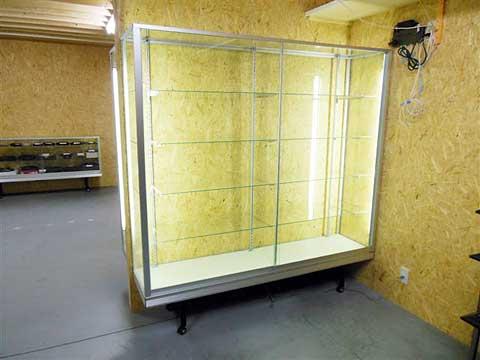 0016 ガラスショーケース(標準型ケース) シルバー 立・平ケース