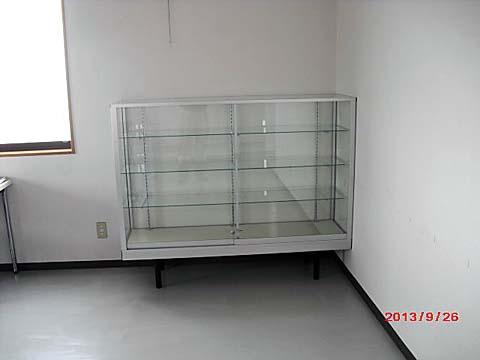 0017 ガラスショーケース(標準型ケース) シルバー 立ケース
