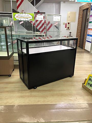 組立ショーケース 簡易タイプ ブラック 天板アクリル製